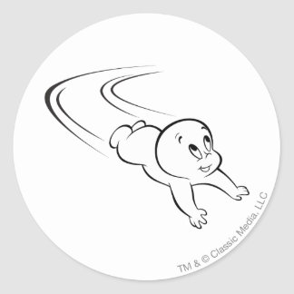 Casper Flying Classic Round Sticker