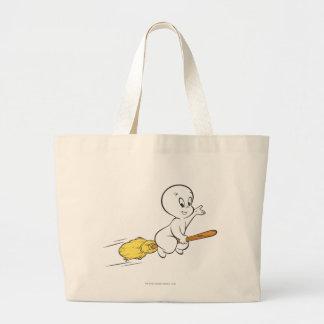 Casper Flying on Broom Jumbo Tote Bag