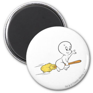 Casper Flying on Broom Magnet