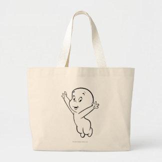 Casper Flying Pose 3 Jumbo Tote Bag