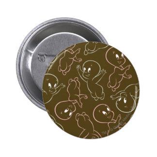 Casper Ghost Pattern Pinback Button