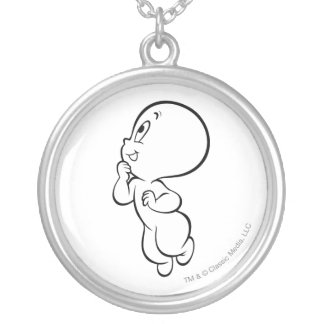 Casper Grins Silver Plated Necklace