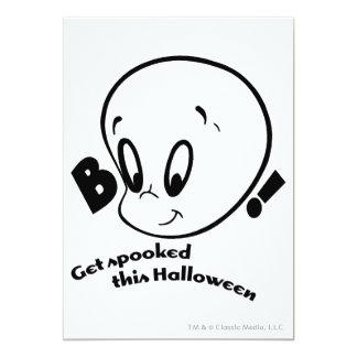 "Casper Halloween Spooked Invitación 5"" X 7"""