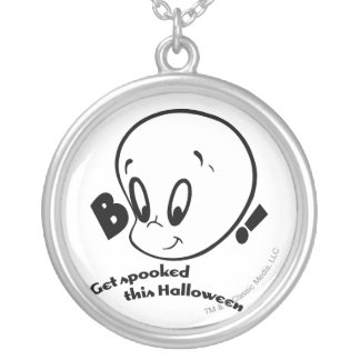 Casper Halloween Spooked Silver Plated Necklace