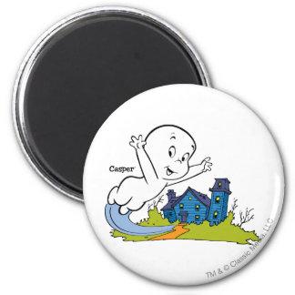 Casper Haunted House 2 Inch Round Magnet