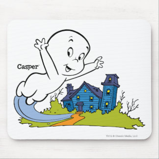 Casper Haunted House Mouse Pad