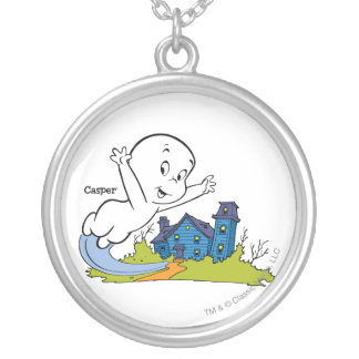 Casper Haunted House Silver Plated Necklace