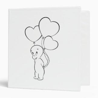 Casper Heart Balloons 3 Ring Binder
