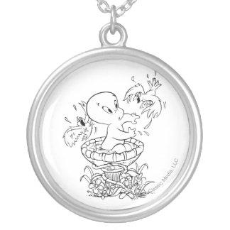 Casper in Bird Bath Silver Plated Necklace