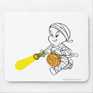 Casper in Mummy Costume Mouse Pad