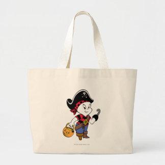 Casper in Pirate Costume Large Tote Bag