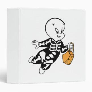 Casper in Skeleton Costume 3 Ring Binder