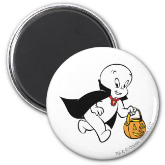 Casper in Vampire Costume 2 Inch Round Magnet