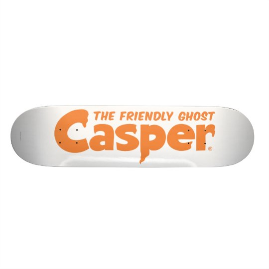 Casper Orange Logo 1 Skateboard