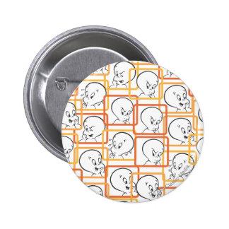 Casper Orange Squares Button