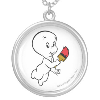 Casper Painting Silver Plated Necklace