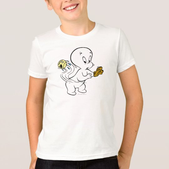 Casper Playing Baseball T-Shirt