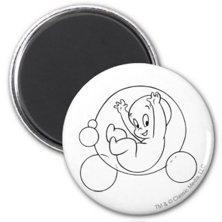 Casper Playing in Bubbles 2 Inch Round Magnet