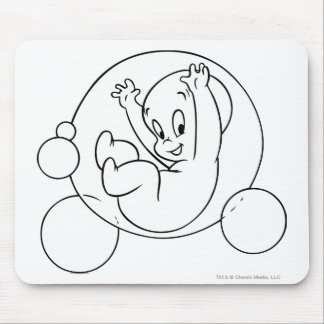 Casper Playing in Bubbles Mouse Pad