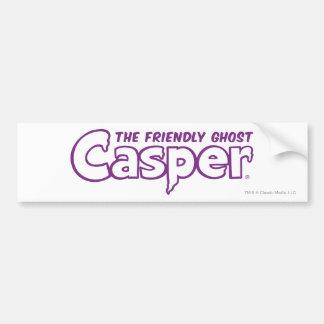Casper Purple Outline Logo Car Bumper Sticker