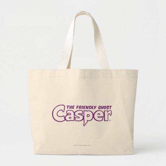 Casper Purple Outline Logo Large Tote Bag