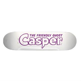 Casper Purple Outline Logo Skateboard Deck