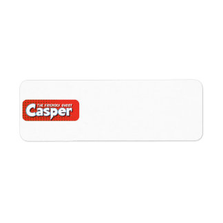 Casper Red Halftone Logo Label