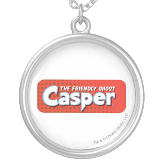 Casper Red Halftone Logo Silver Plated Necklace