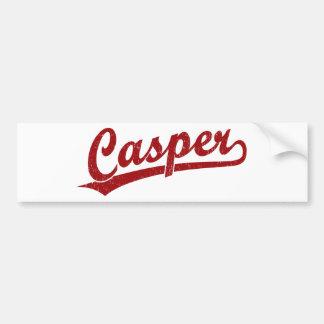 Casper script logo in red car bumper sticker