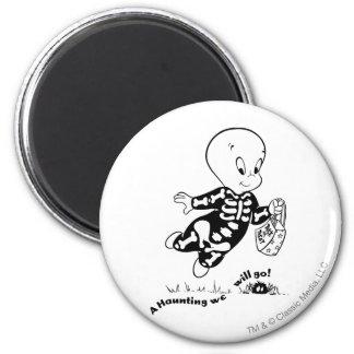 Casper Skeleton Costume 2 Inch Round Magnet