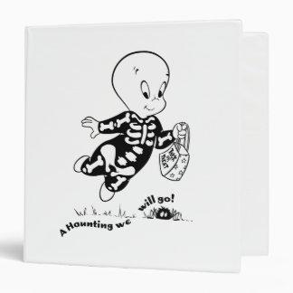 Casper Skeleton Costume 3 Ring Binder