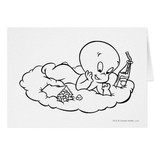 Casper Snacking en la nube Tarjeta De Felicitación