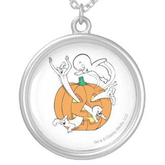 Casper, Spooky & The Ghostly Trio Round Pendant Necklace