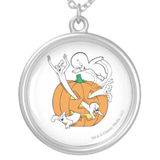 Casper, Spooky & The Ghostly Trio Silver Plated Necklace