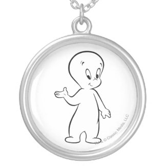 Casper Standing Silver Plated Necklace