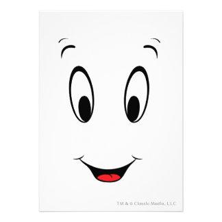 Casper Super Smiley Face Custom Invitation