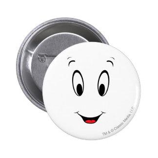 Casper Super Smiley Face Pinback Button