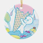 Casper Sweet Ice Cream Ceramic Ornament