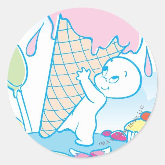 Casper Sweet Ice Cream Classic Round Sticker