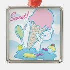 Casper Sweet Ice Cream Metal Ornament