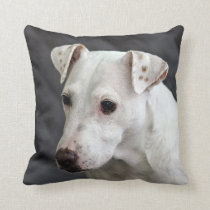 Casper the Dog Throw Pillow