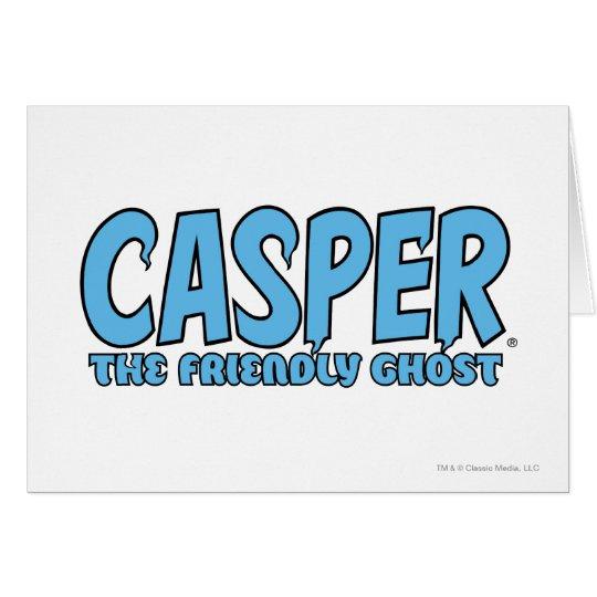 Casper the Friendly Ghost Blue Logo 1 Card