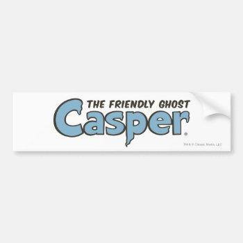 Casper The Friendly Ghost Blue Logo 2 Bumper Sticker by casper at Zazzle