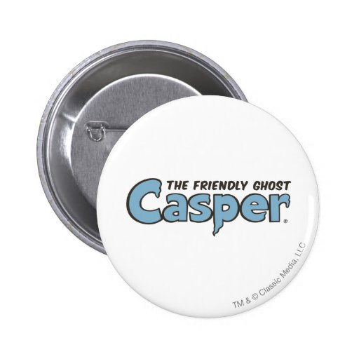 Casper the Friendly Ghost Blue Logo 2 Pinback Button