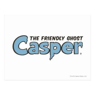 Casper the Friendly Ghost Blue Logo 2 Postcard