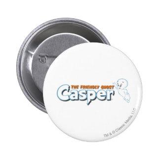 Casper The Friendly Ghost Logo 1 Button