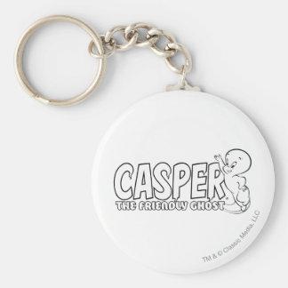 Casper the Friendly Ghost Logo 2 Keychain