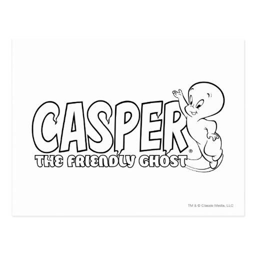 Casper the Friendly Ghost Logo 2 Postcard