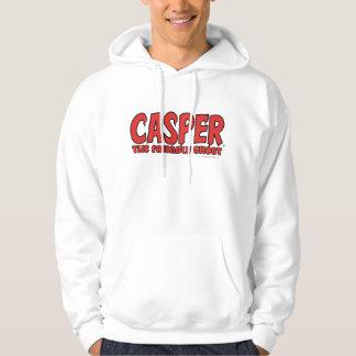 Casper the Friendly Ghost Red Logo 1 Hooded Sweatshirt