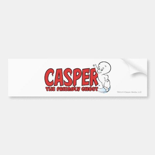 casper the friendly ghost logo. casper the friendly ghost red logo 2 bumper sticker e